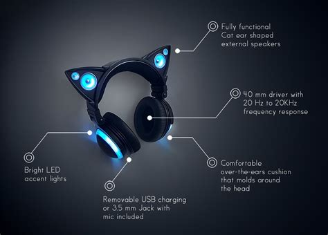 axent wear cat ear headphones are cool cool wearable