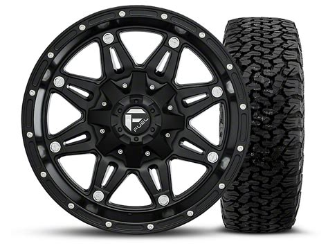 Bfgoodrich Sweepstakes - fuel wheels wrangler hostage matte black 17x9 wheel and bf goodrich all terrain ta