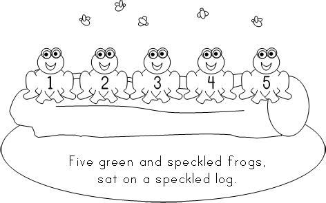 five speckled frogs coloring page fun learning printables for kids
