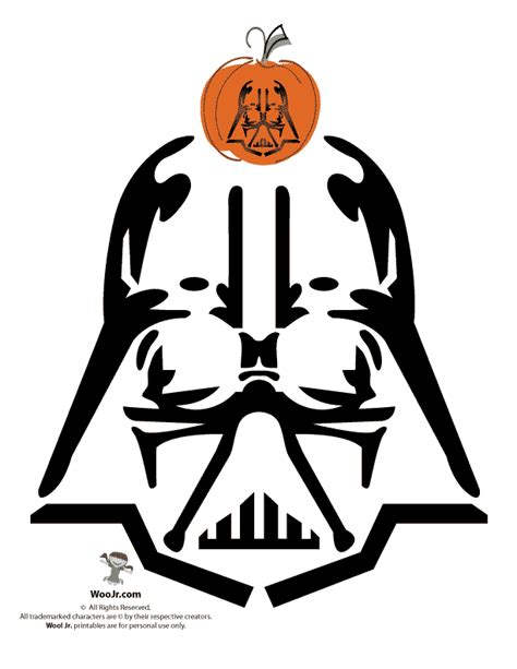 printable star wars pumpkin stencils easy darth vader pumpkin carving woo jr kids activities
