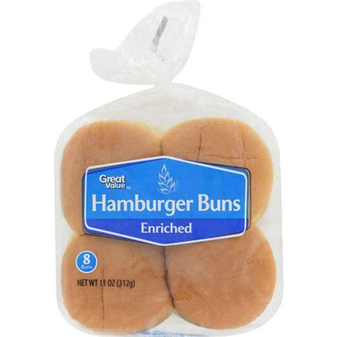 buns walmart great value hamburger buns 8ct bakery bread walmart