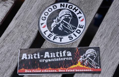 Aufkleber Anti Antifa by Polizei Verklebte Nazisticker St 246 Rungsmelder