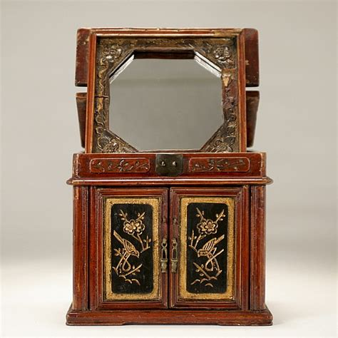 jewelry box with stand up mirror by ripley