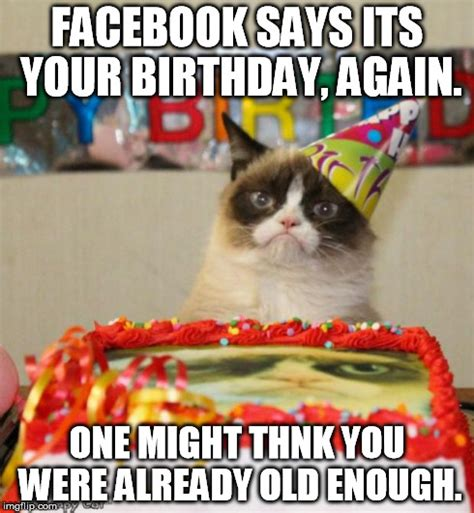 Cat Happy Birthday Meme - grumpy cat birthday meme imgflip
