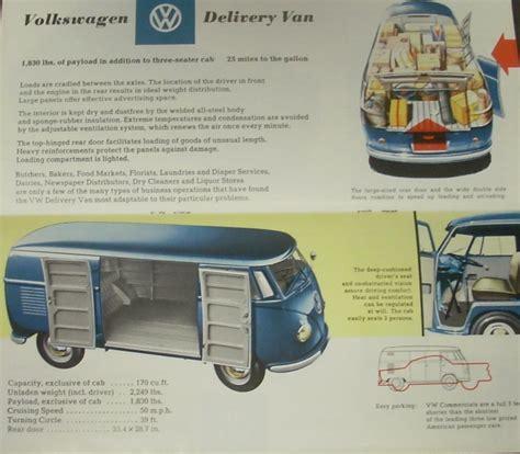 volkswagen up brochure original 1958 volkswagen sales brochure commercial up