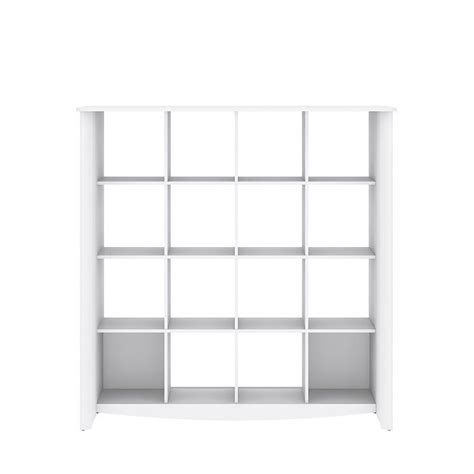 Cube Room Divider Bush Aero 16 Cube Bookcase Room Divider In White My16103 03