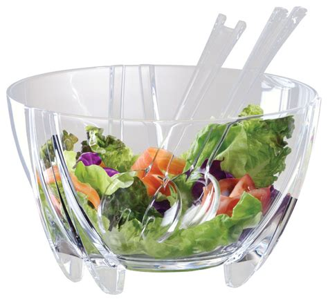 6 quart illusions salad bowl servers contemporary