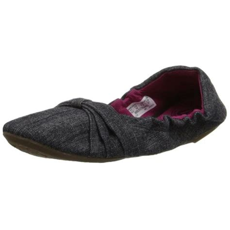 keen 3407 womens gray canvas slip on ballet flats shoes 7