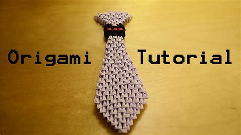 3d Origami Tutorial - how to make a 3d origami tie tutorial by ideando