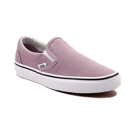 Vans Slipon vans slip on skate shoe purple 497120
