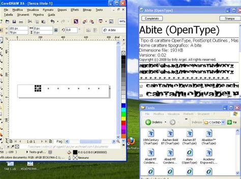 corel draw x6 update offline opentype fonts disabled invisible likely after windows