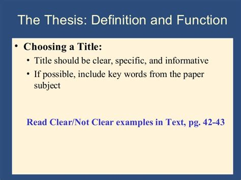 choosing a dissertation title writing the research paper a handbook 7th ed ch 4 the