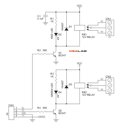 2 channel relay board circuit wiring diagrams