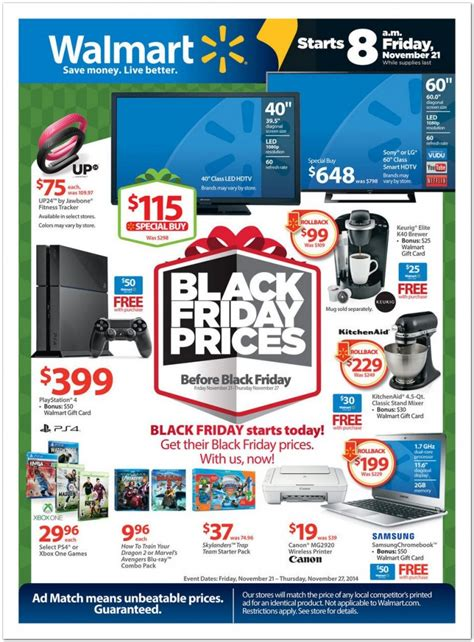 Black Friday Prices At Walmart | walmart pre black friday ad 2014