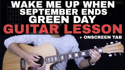 tutorial guitar wake me up wake me up when september ends guitar tutorial green day