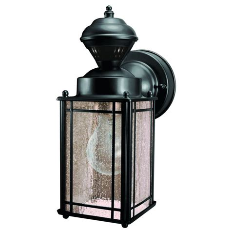 heath zenith secure home motion activated light lowes heath zenith shaker cove mission 150 degree black motion