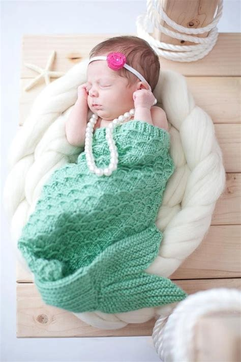 baby knitted mermaid knit mermaid cocoon photography prop made to order
