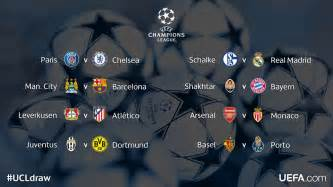 Uefa champions league 2014 15 draws for knockout stages are out today