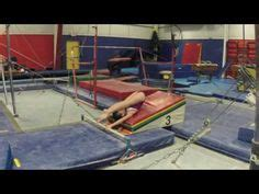 setting drills for tumbling using physio balls to bounce into handstands on the