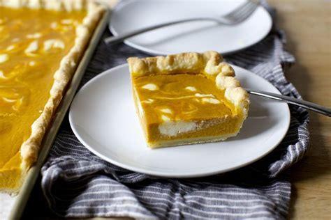 cheesecake marbled pumpkin slab pie recipe smitten
