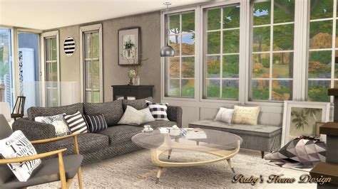 chiodos no in the living room sims4 scandinavian retreat 海邊的北歐風住宅 no link ruby s home design
