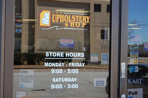 upholstery shop houston store hours on front door yelp