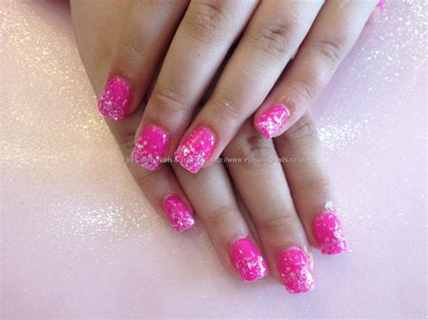 pink glitter acrylic nail designs eye candy nails training acrylic nails with pink gel