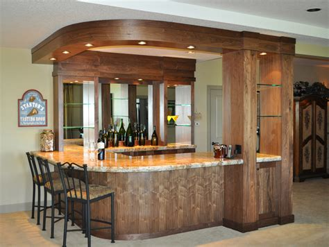 Kitchen Cabinet Color Ideas Walnut Wine Bar With Radius Soffit And Bar Back