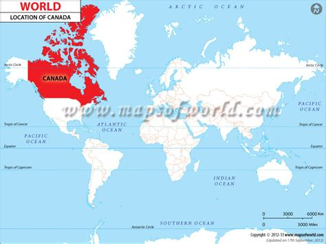 map of the world canada 0