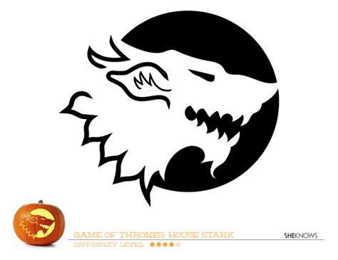 Printable Pumpkin Stencils Game Of Thrones | game of thrones house of stark pumpkin carving template