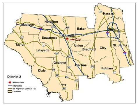fdot district map florida department of transportation district 2 surveying