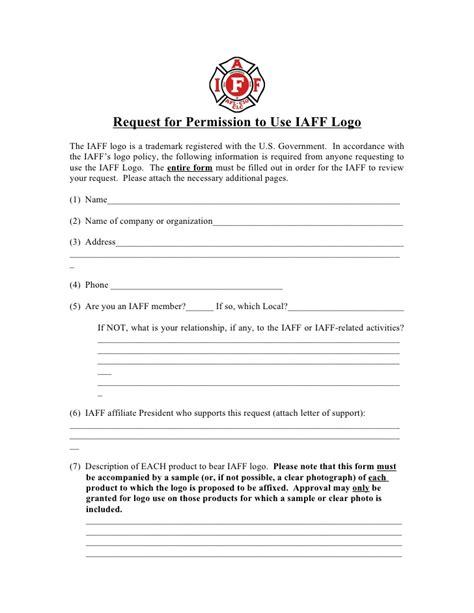 Permission Letter Logo Use logo application