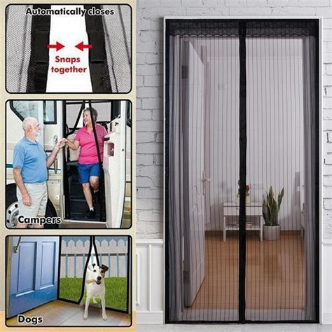 door mosquito curtain door insect curtain 4 piece fly screen curtain