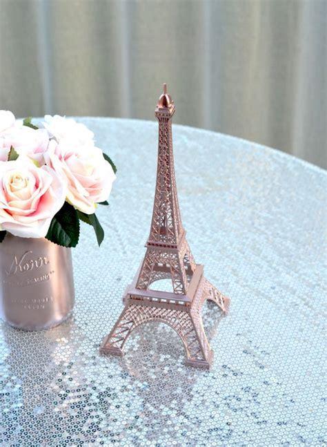 ROSE GOLD Eiffel Tower Centerpiece. Parisians Theme Decor.