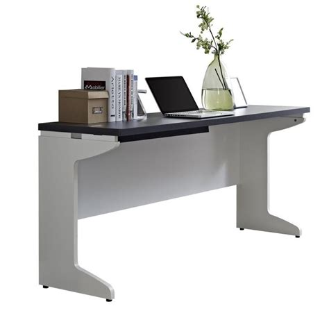 Gray Computer Desk by Features