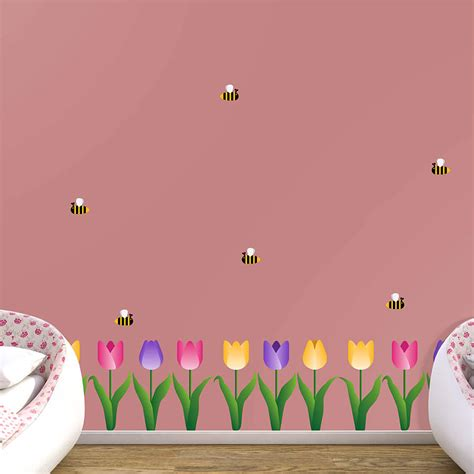 Tulip Wall Stickers tulips collection wall decal shop fathead 174 for thematic