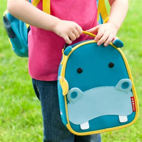 Skip Hop Zoo Lunchies Bee 2 skip hop zoo lunchies insulated lunch bags hippo babyonline