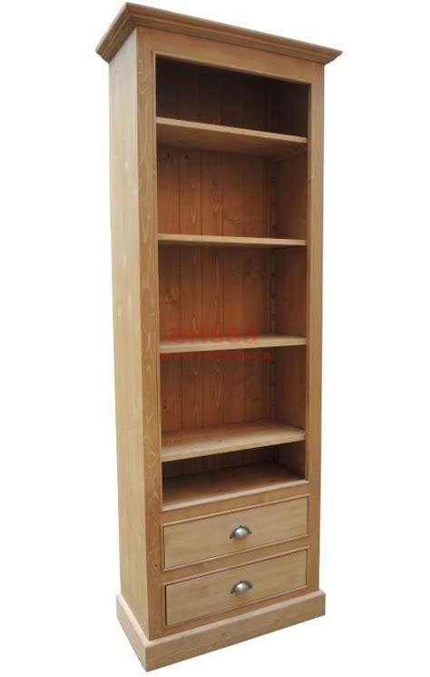 libreria con cassetti libreria aperta in legno massello shabby chic colorata