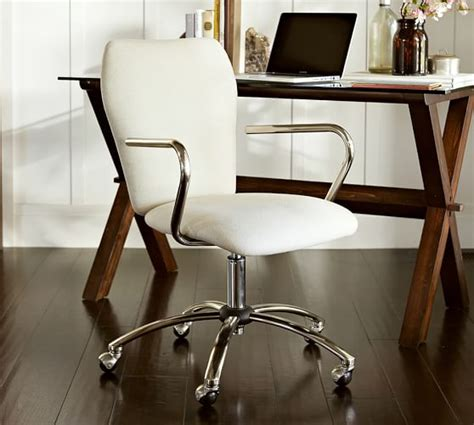 desk and chairs for airgo swivel desk chair pottery barn