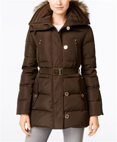 Michael Kors Faux Fur Down Puffer Coat
