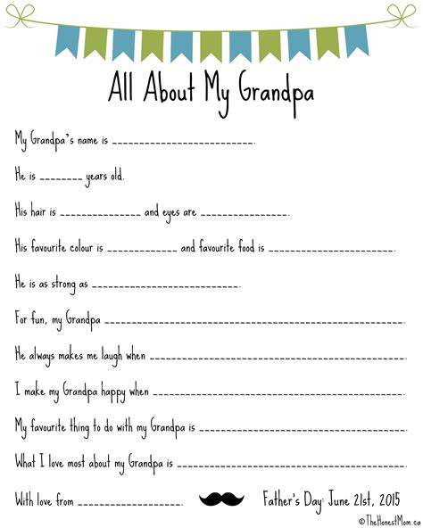 Father S Day Mad Libs Free Printables The Honest Mom