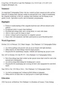 Copywriter Resume Sle by Copy Editor Resume Sles Resume Templates Copywriter And