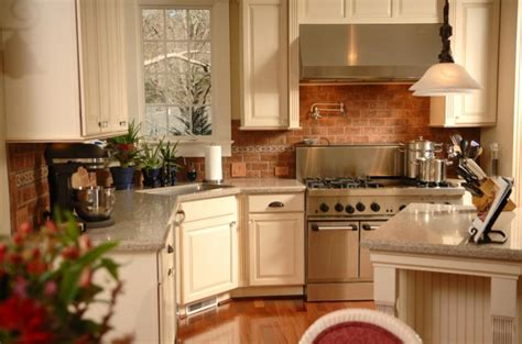 brick backsplashes for kitchens colonial kitchen pictures slideshow