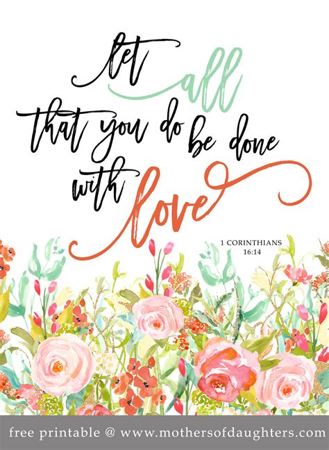 let all that you do be done in love tattoo free printable quot let all that you do be done with