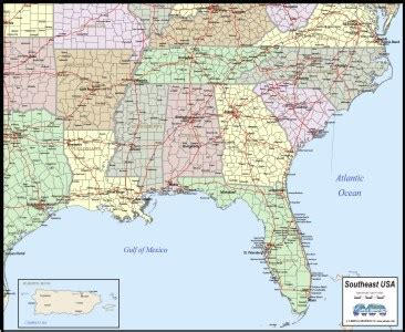 printable map of the southeast united states map of southeast united states my blog