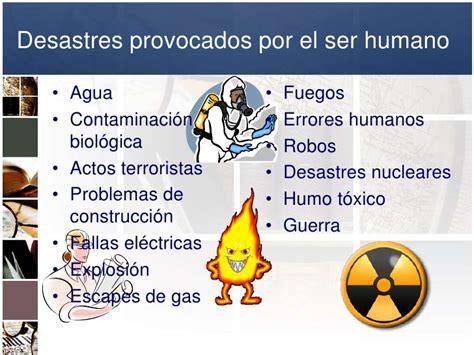 desastres de humanos los errores plan de manejo de emergencias en unidades de informaci 243 n ante situaci