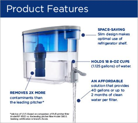 Pur Vs Brita Faucet Water Filter by Kaz Inc Pur 2 Stage Dispenser Ds 1800z