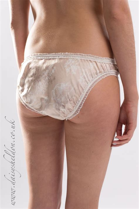 bird blossom knickers these sumptous screen printed silk