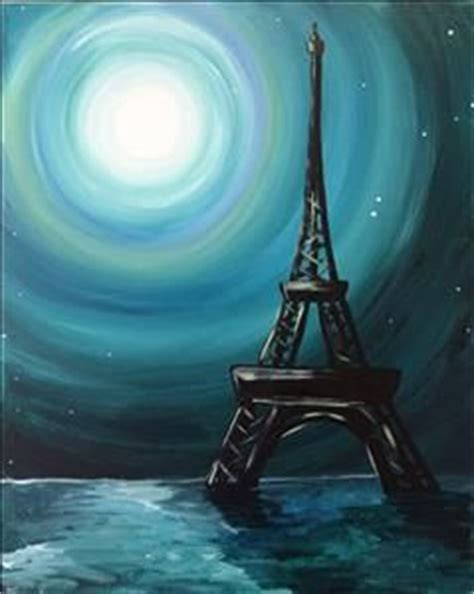 paint with a twist eiffel tower moon painting with a twist painting ideas