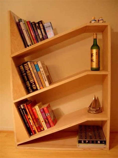 simple wooden bookshelf design idea plushemisphere